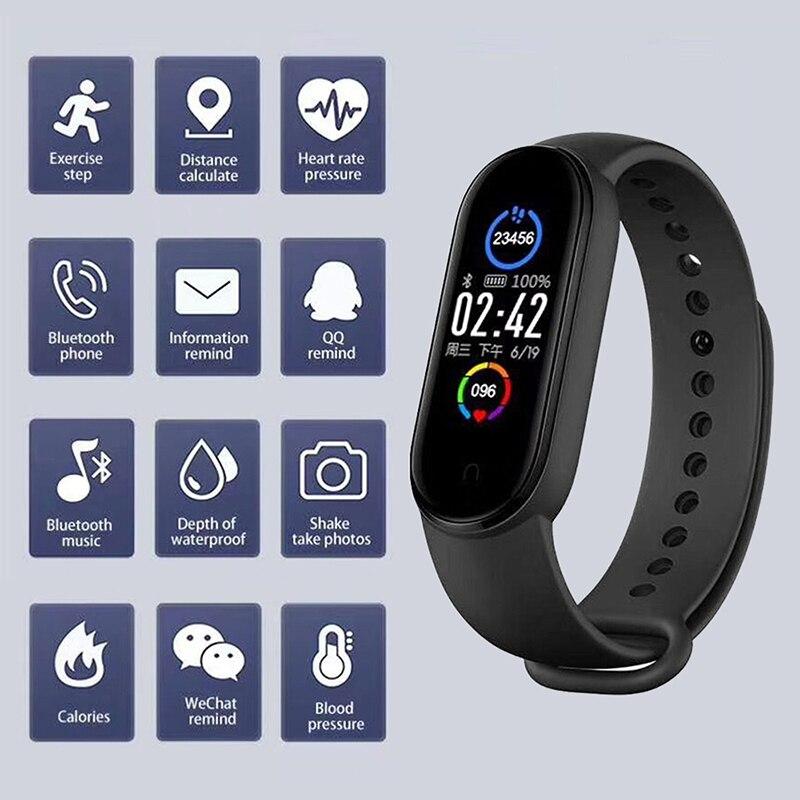 CHOTOG Smart Wristband IP67 Waterproof Sport Smart Watch Men Woman Blood Pressure Heart Rate Monitor