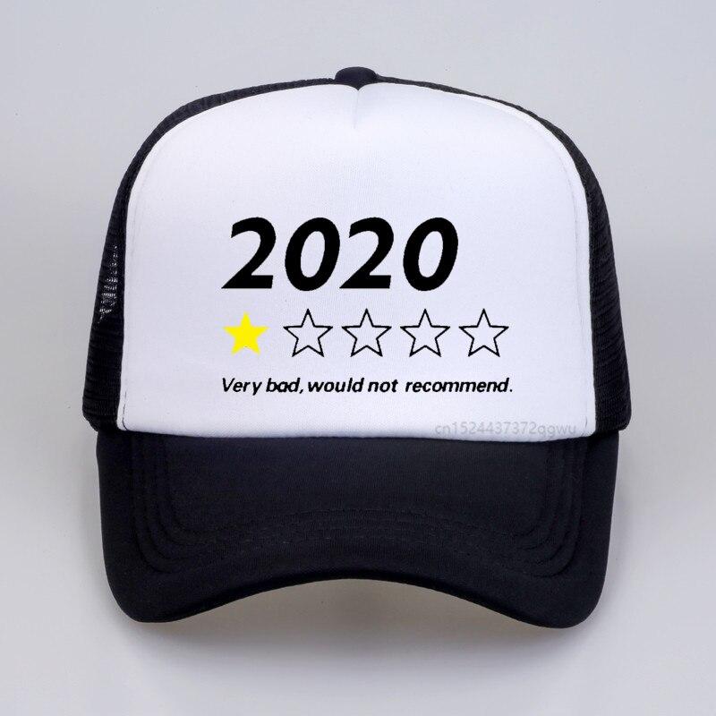 2020 очень плохая, не рекомендую бейсбольную кепку, летняя Мужская Регулируемая сетчатая дышащая шляпа, модные женские шляпы от солнца, Снэпб...