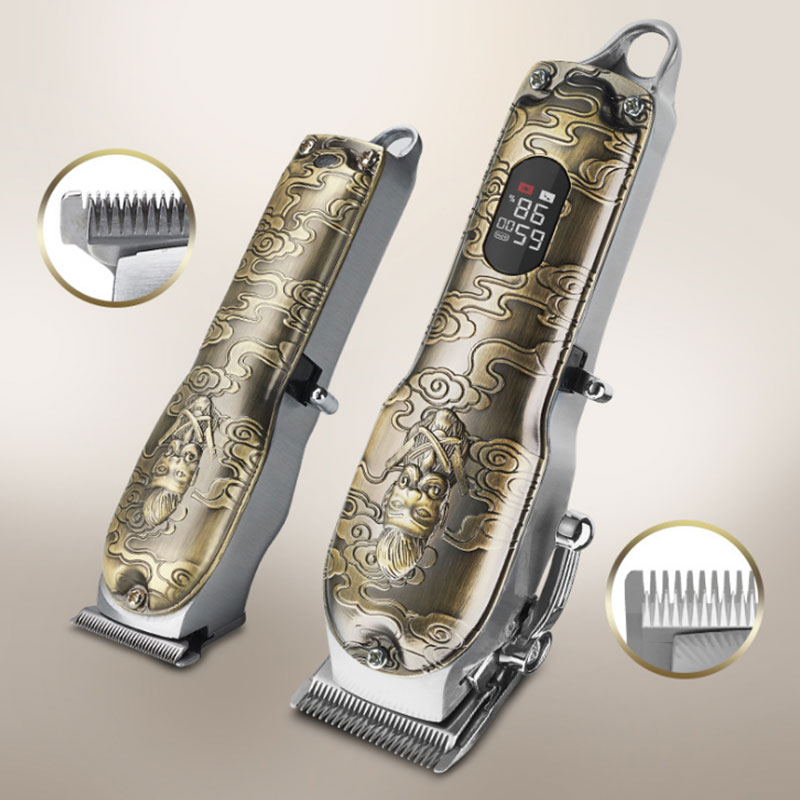professional electric powerful 10W hair clipper combo kits metal housing hair trimmer for men barber cordless haircut machine enlarge