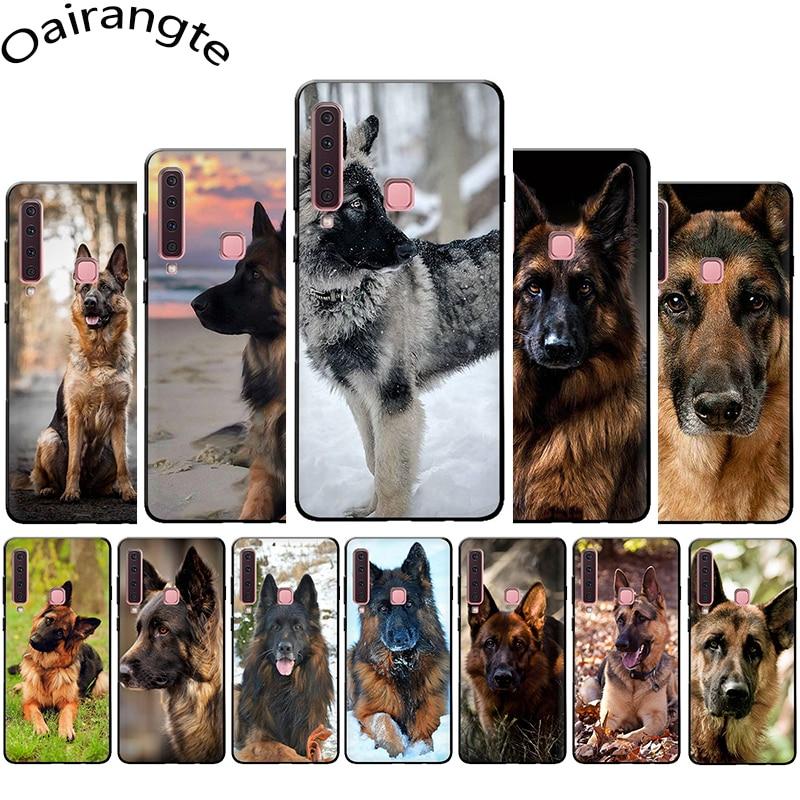 Funda de teléfono de silicona suave perro pastor alemán para Samsung A3 A5 A6 Plus A7 A8 A9 A10s 20s 30s 40s 50s 60 70 J6
