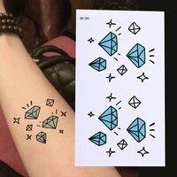 waterproof temporary tattoo diamond stars tatoo henna fake flash tattoo stickers taty tatto tattoos tatuajes 10 5x6cm