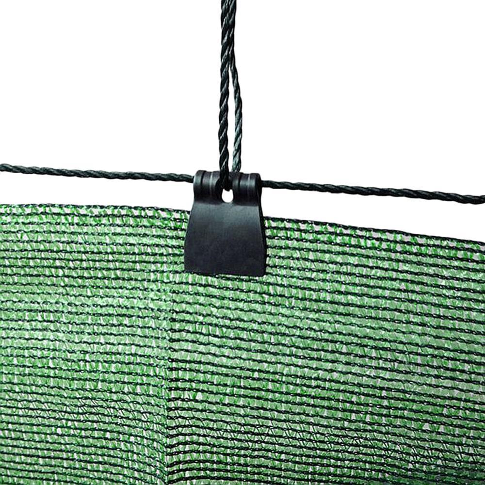 Купить с кэшбэком 50~10pcs Sunshade Net Clip Butterfly Clip Garden Tools Greenhouse Shade Cloth Clips Plastic Fence Shading Net Clips
