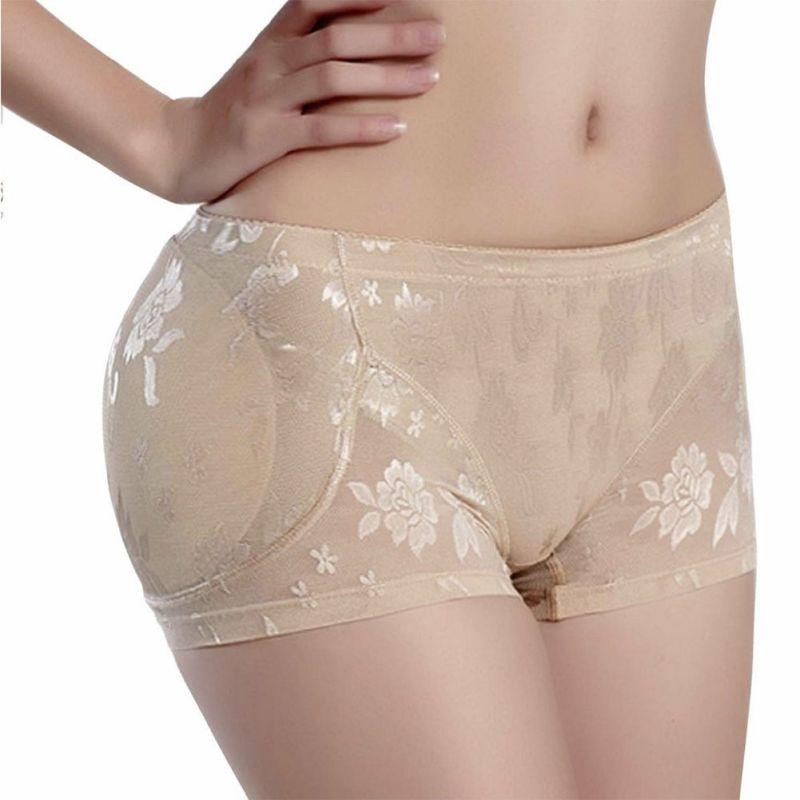 Sexy fina Sexy para mujer de potenciador de trasero con relleno ropa interior suave sin costuras