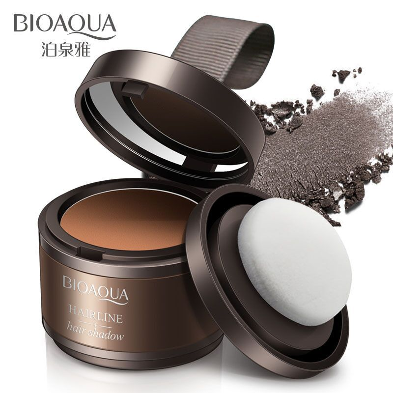 Bioaoua sombra de cabello línea de sombra de cabello gris marrón Natural belleza en polvo maquillaje herramientas de cosméticos