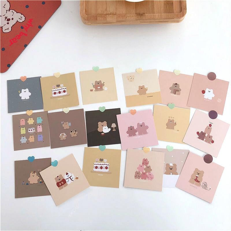 9pcs-coreano-sveglio-del-fumetto-della-fragola-orso-piccola-decorazione-biglietti-di-auguri-manuale-album-autoadesivo-della-parete-della-stanza-puntelli-foto-di-cancelleria