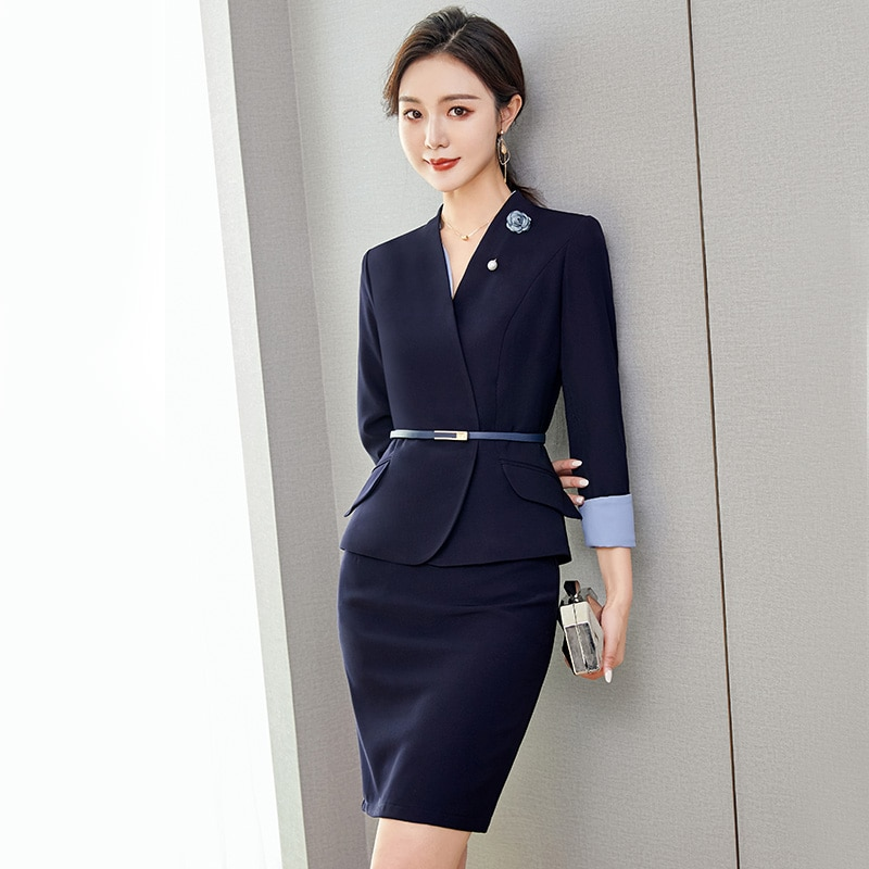 Business Wear Temperament Goddess Style Beauty Salon Reception Work Clothes Jewelry Shop Sales Workw
