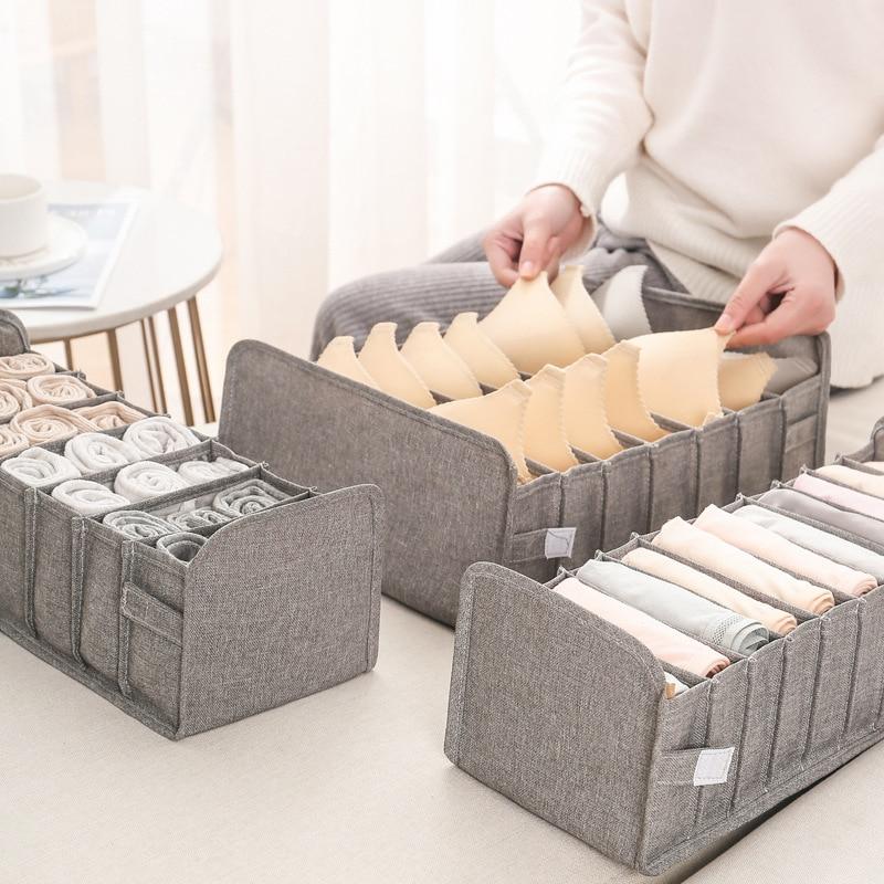 sobuy fsr30 w storage bench 3 drawers 3 PCS Underwear Organizer Bra Socks Storage Box Home Storage Compartment Sorting Box Wardrobe Drawers Classification Storage Bag
