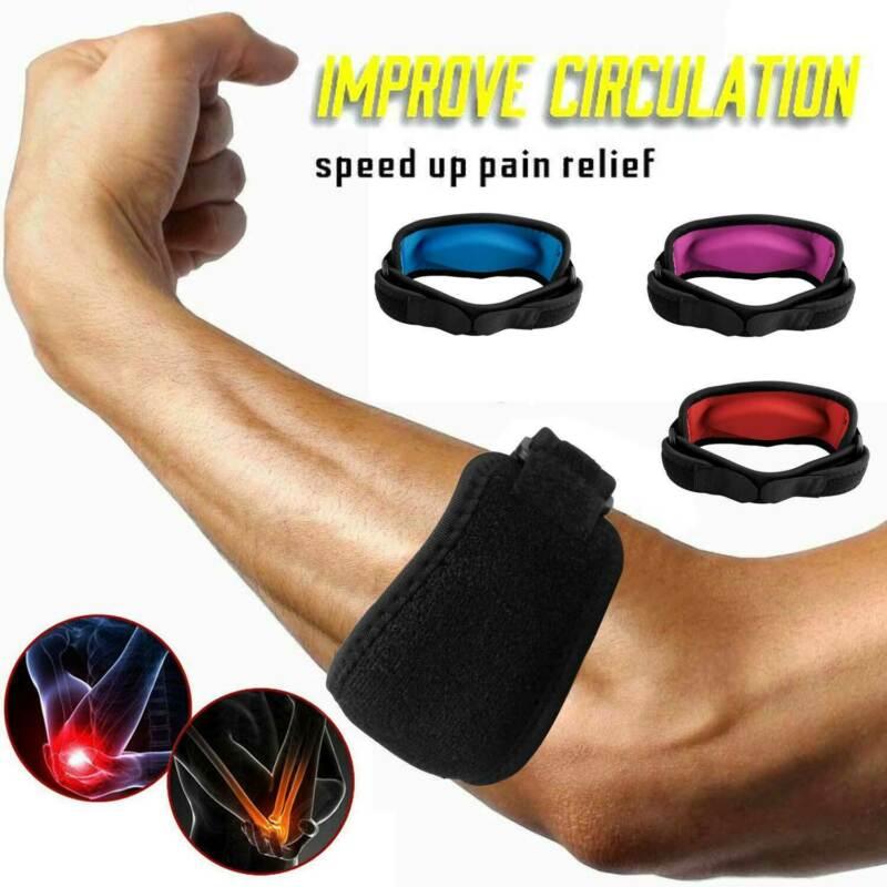 1Pc Tennis Ellenbogen Brace Strap Sehnenscheidenentzündung Golfer Gel Band Golf Schmerzen Relief Unterstützung Protector