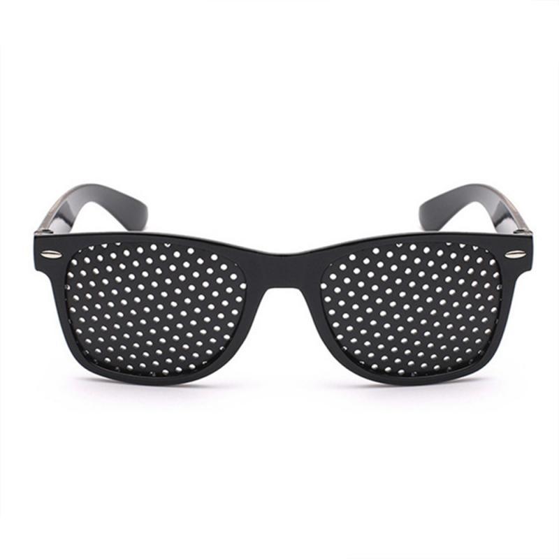 Exercice d'entraînement de Vision de la vue noire les soins oculaires améliorent les lunettes sténopé!