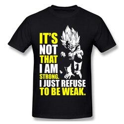 Camiseta para homem forte-recusar ser fraco 100% algodão dragon ball z t camisa 6xl engraçado roupas tamanhos grandes