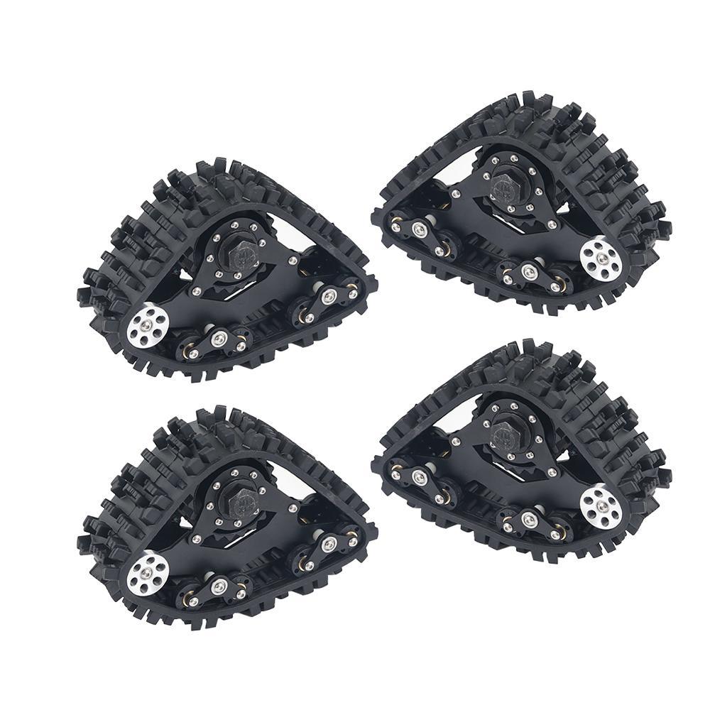 4 Uds TRX4 rueda de pistas Sandmobile conversión nieve neumático para Traxxas TRX-4 1/10 RC oruga Coche