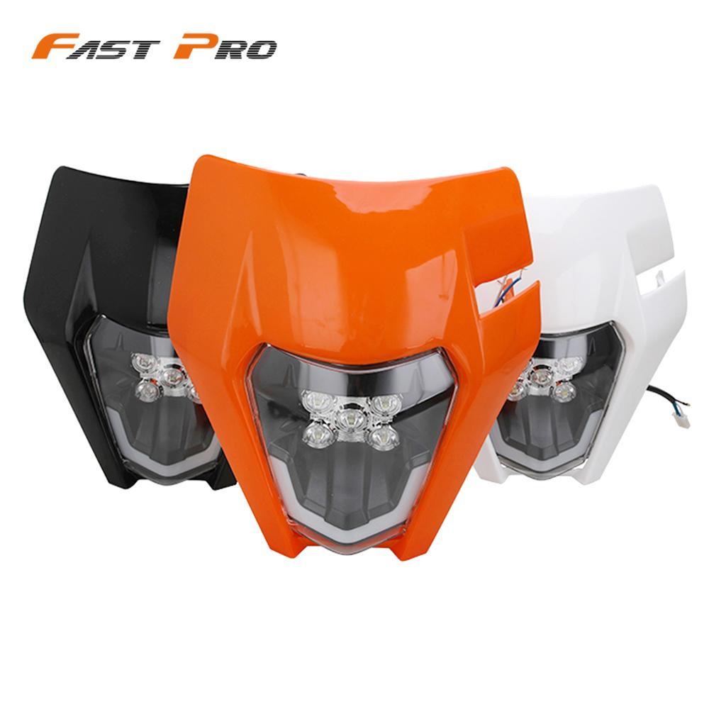 مصباح أمامي LED للدراجات النارية ، مصباح أمامي لإضاءة القناع ، مصباح دراجة نارية لـ Husqvarna FC FE FX TC TE TX 125 250 300 350 450 501 FE250 FC250