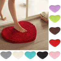 Коврики для ванной Mini 40x30 см в форме сердца, не скользящий набор, небольшие коврики для ванной комнаты с узором в туалете, напольный коврик, м...