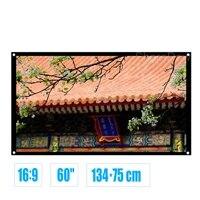 16 9 60 pouces mat blanc tissu Fiber de verre Simple ecran de projecteur fixe au mur pour Home cinema cinema ecole de commerce