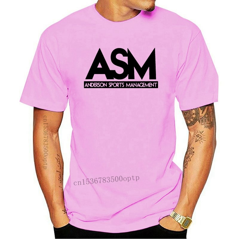 2020 Customized products Cheap 100 men hot cotton ASM Anderson Management Tee Funny TV Series Dwayne Johnson T Shirt