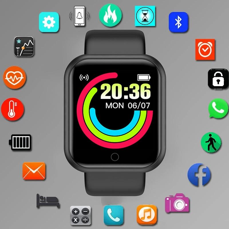 Водонепроницаемые Цифровые Смарт-часы 1,44 дюйма, спортивные мужские часы, цифровые светодиодные электронные наручные часы с обоями на заказ...