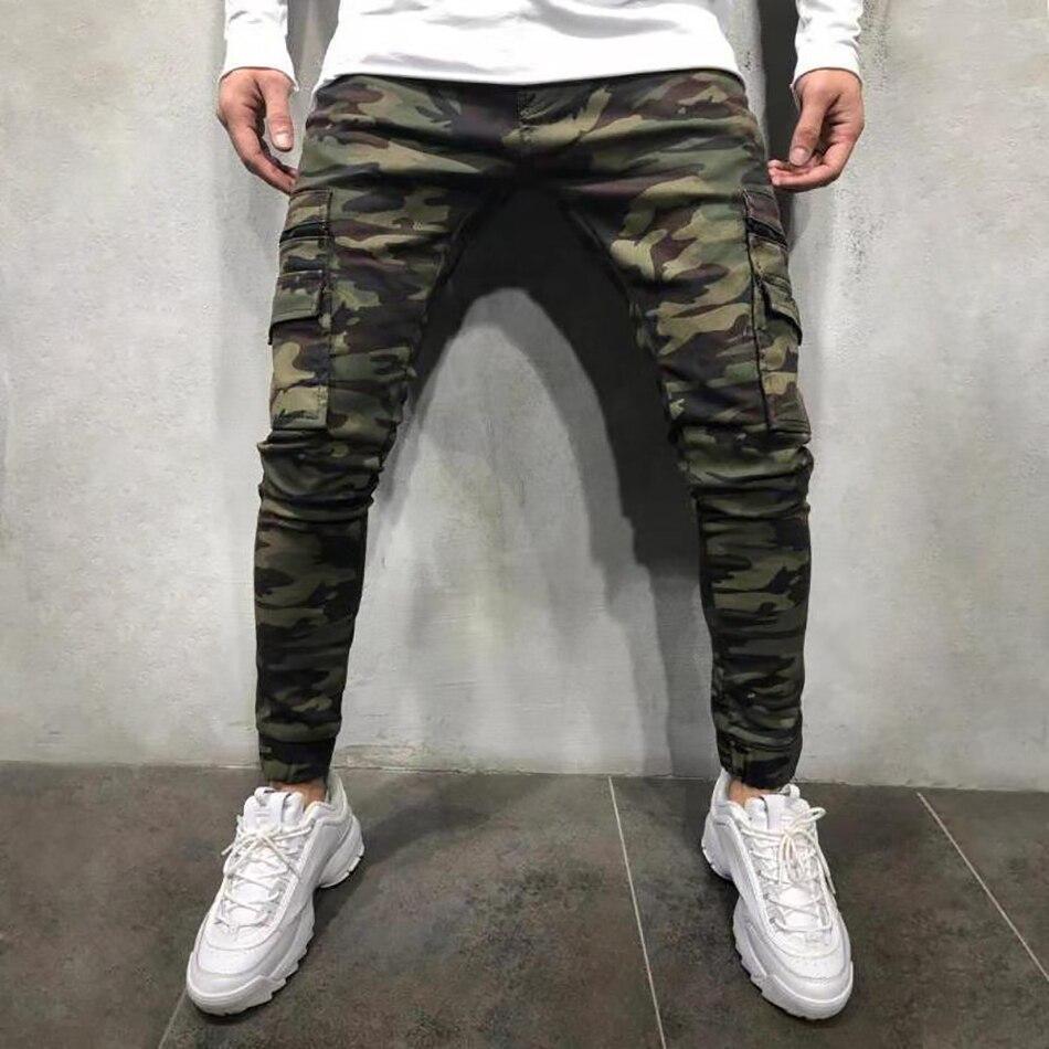 Джинсы мужские облегающие повседневные камуфляжные брюки карго в стиле милитари из денима осень-зима 2021 мужские брюки