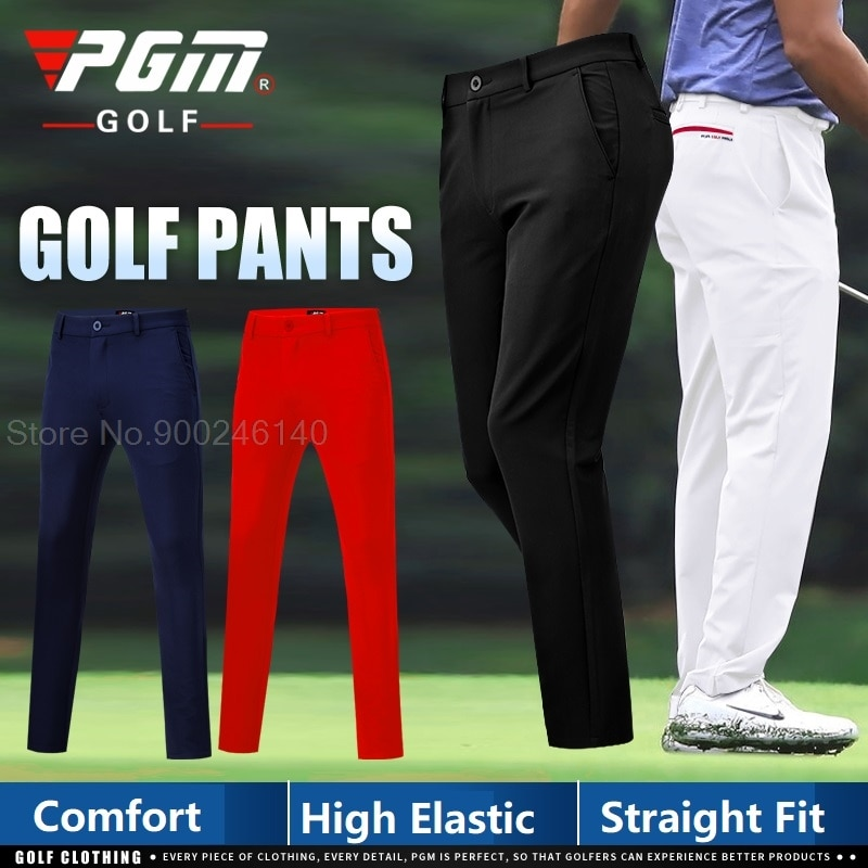 PGM Men Golf Pants Male Spring Autumn Trousers High-Elastic Casual Golf Tennis Long Pants Slim Fit Soft Sports Pant XXS-XXXL
