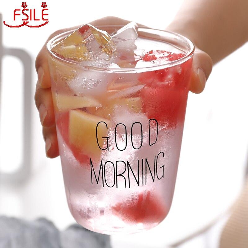 Taza de cristal original Simple para el hogar, taza de agua roja para estudiantes