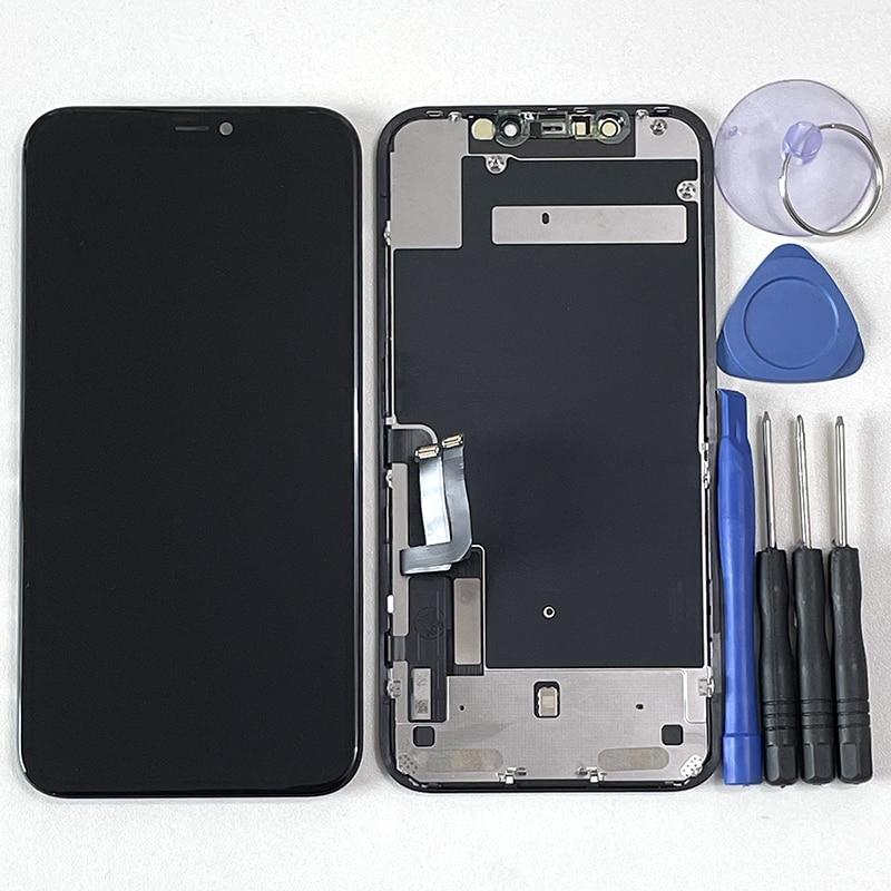 شاشة لمس LCD مقاس 6.1 بوصة لجهاز iPhone 11 ، مع وظيفة اللمس ثلاثية الأبعاد