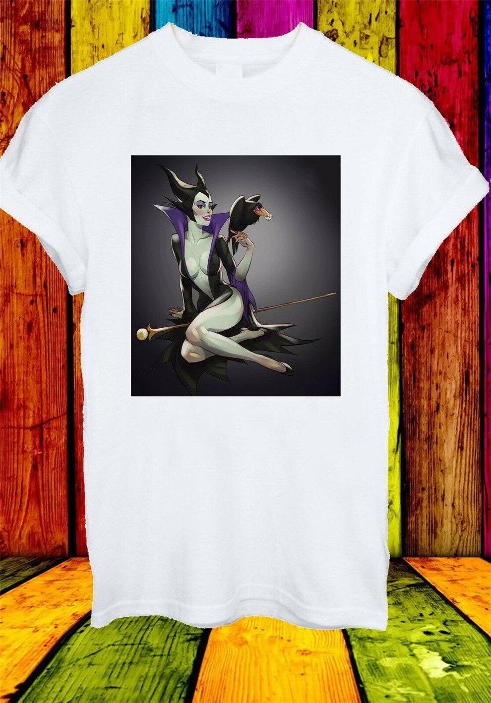 Maléfica Aurora El Príncipe Philip Diaval cetro película hombres mujeres camiseta Unisex 458 desgaste al aire libre camisa