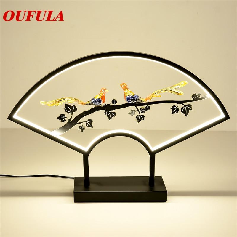 Ouvola-مصباح طاولة LED من الراتينج ، تصميم معاصر حديث ، ديكور إبداعي ، مثالي لغرفة المعيشة أو غرفة النوم أو الردهة
