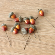 Fil de noël Simulation petit gland décoration créative pommes de pin pendentif décorations de noël cadeaux Gadgets 50 pièces/paquet