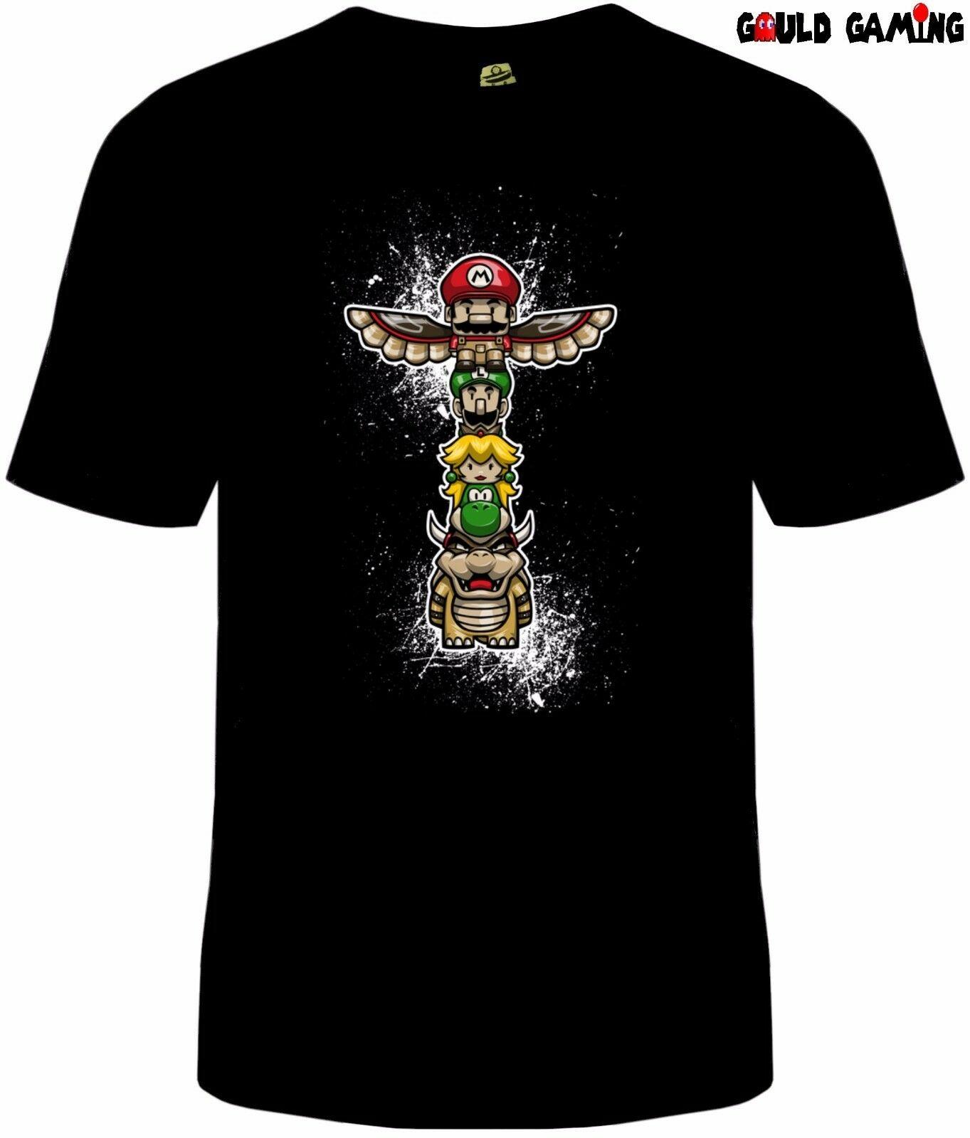 Super Mario Totem Polo camiseta Unisex adulto Bowser Peach Luigi Nintendo tamaño nuevo