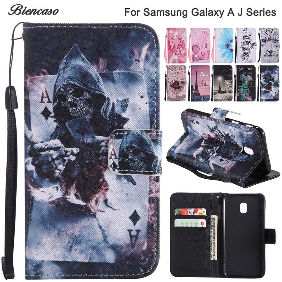 Case For Samsung Galaxy J330 J530 J730 A320 A520 A3 A5 J1 J3 J5 J7 2016 2017 Prime Note 8 S8 S9 S10E S10 Plus Flip Leather Cover