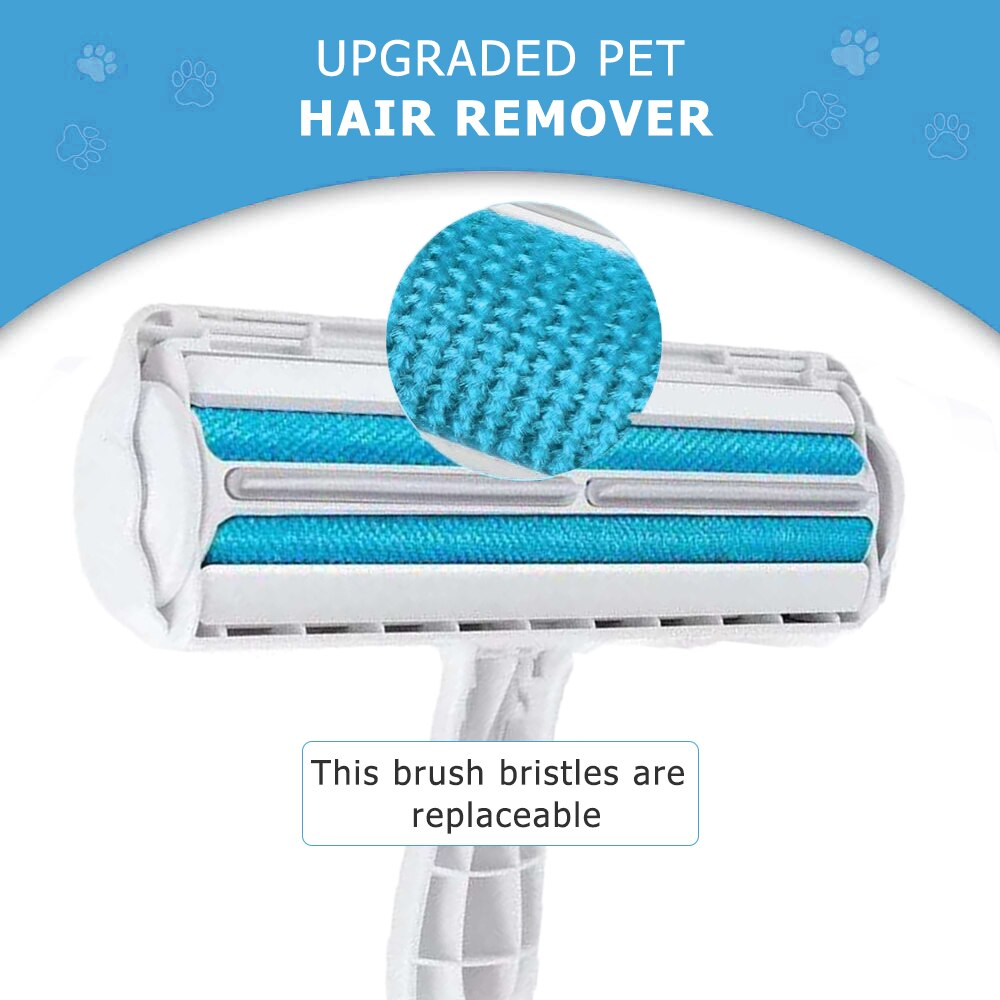 Pet Hair Roller Remover Lint Brush 2-Way Dog Cat Comb Tool Convenient Cleaning Dog Cat Fur Brush Base Home Furniture Sofa Clothe enlarge