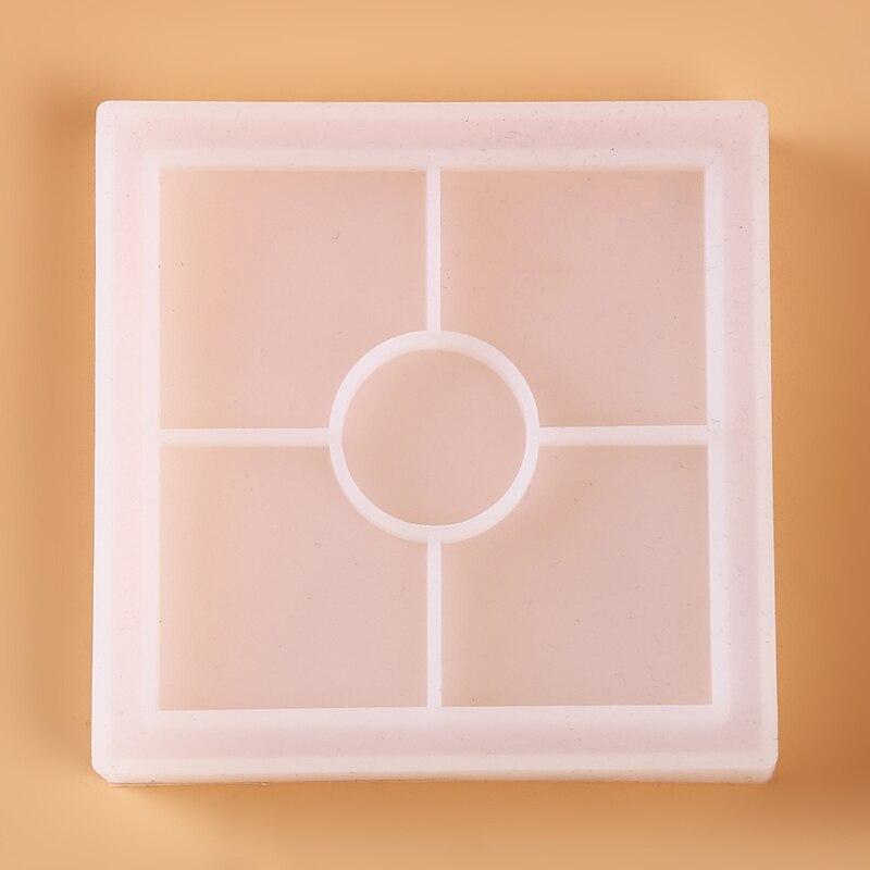Polygon molde de silicona DIY maceta Base té posavasos taza almohadilla titular resina epoxi artesanía molde cristal gota pegamento hecho a mano molde