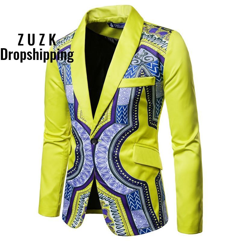 Blazer novo único breasted terno jaqueta masculina casual vestido de festa de casamento blazers para homens
