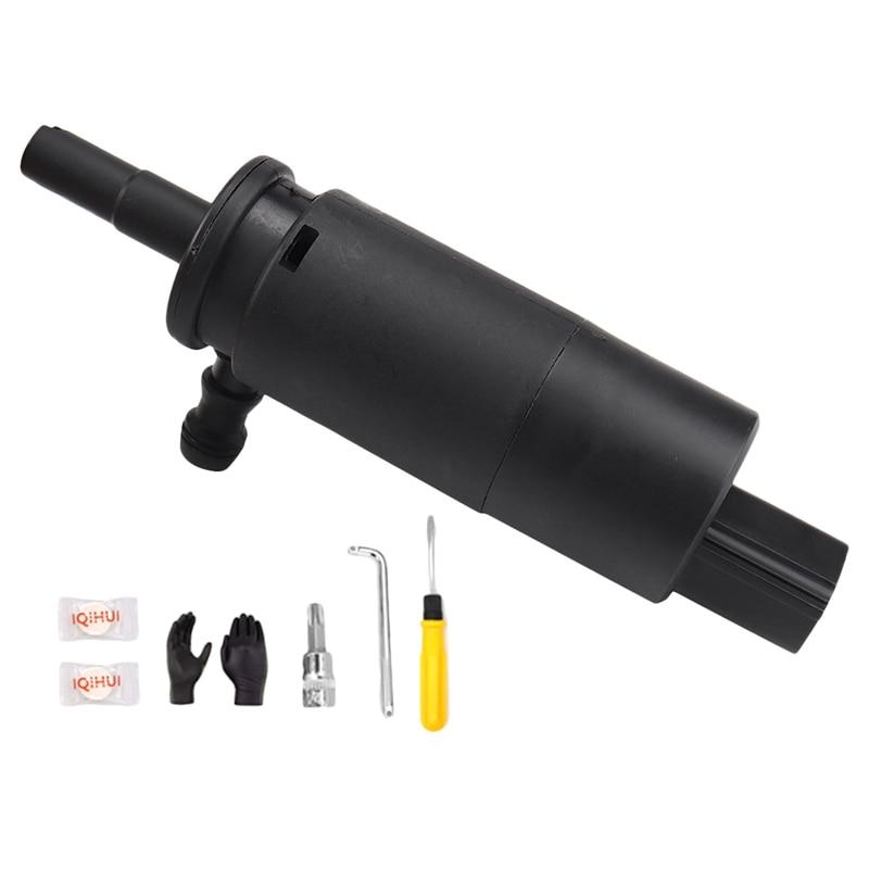Kit de bomba de arandela de faro delantero, compatible con BMW E46 E90 X5 E60 E65 E66 X3 67128377430 negro