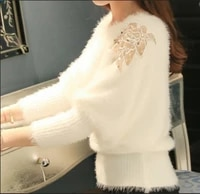fashion womens sweater new korean loose soft bat knitted bottoming shirt mohair pullover womens tide spring autumn female tops