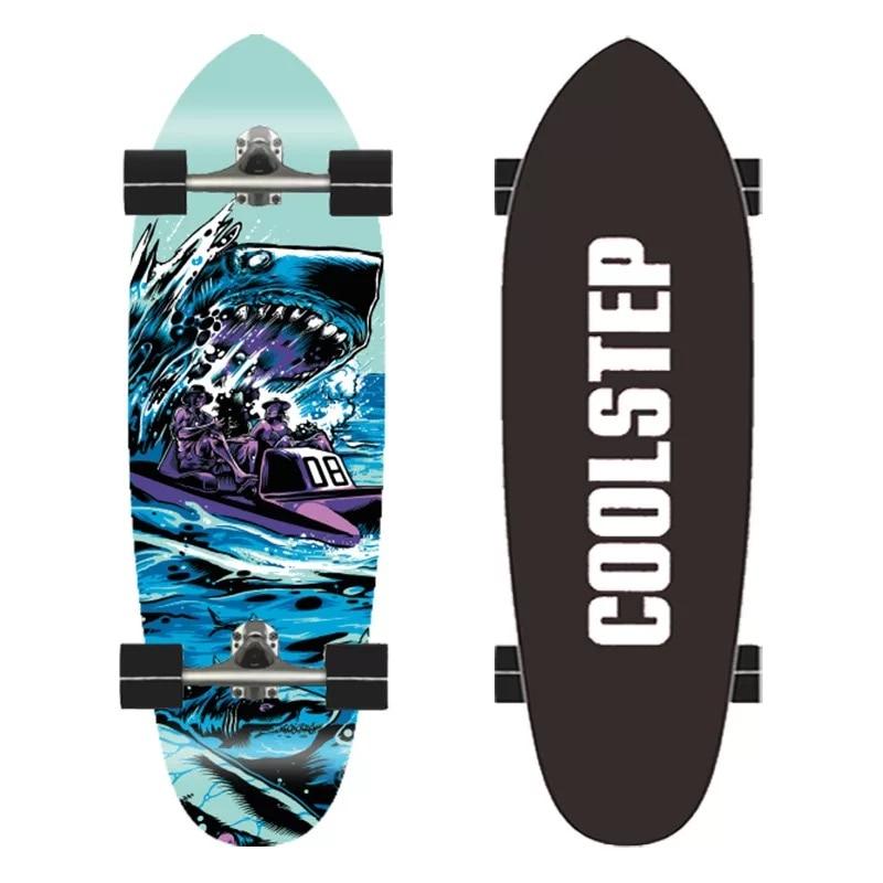 30'' Surf Skate Board 7-Tier Maple Deck Cruiser Surfskate Board Complete Ready To Ride Outdoor Sport Surfing Sliding Skateboards