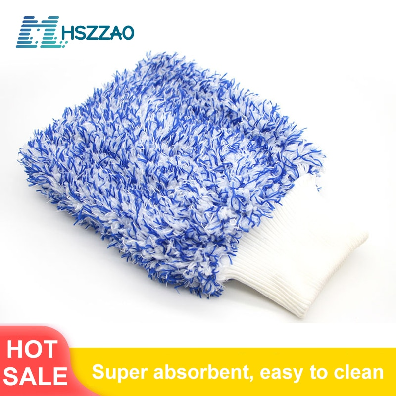 1 Pcs Ultra-Luxury Microfiber Car Wash Gloves Car Cleaning Tool Home use Multi-function Cleaning Brush Detailing Never Scrat