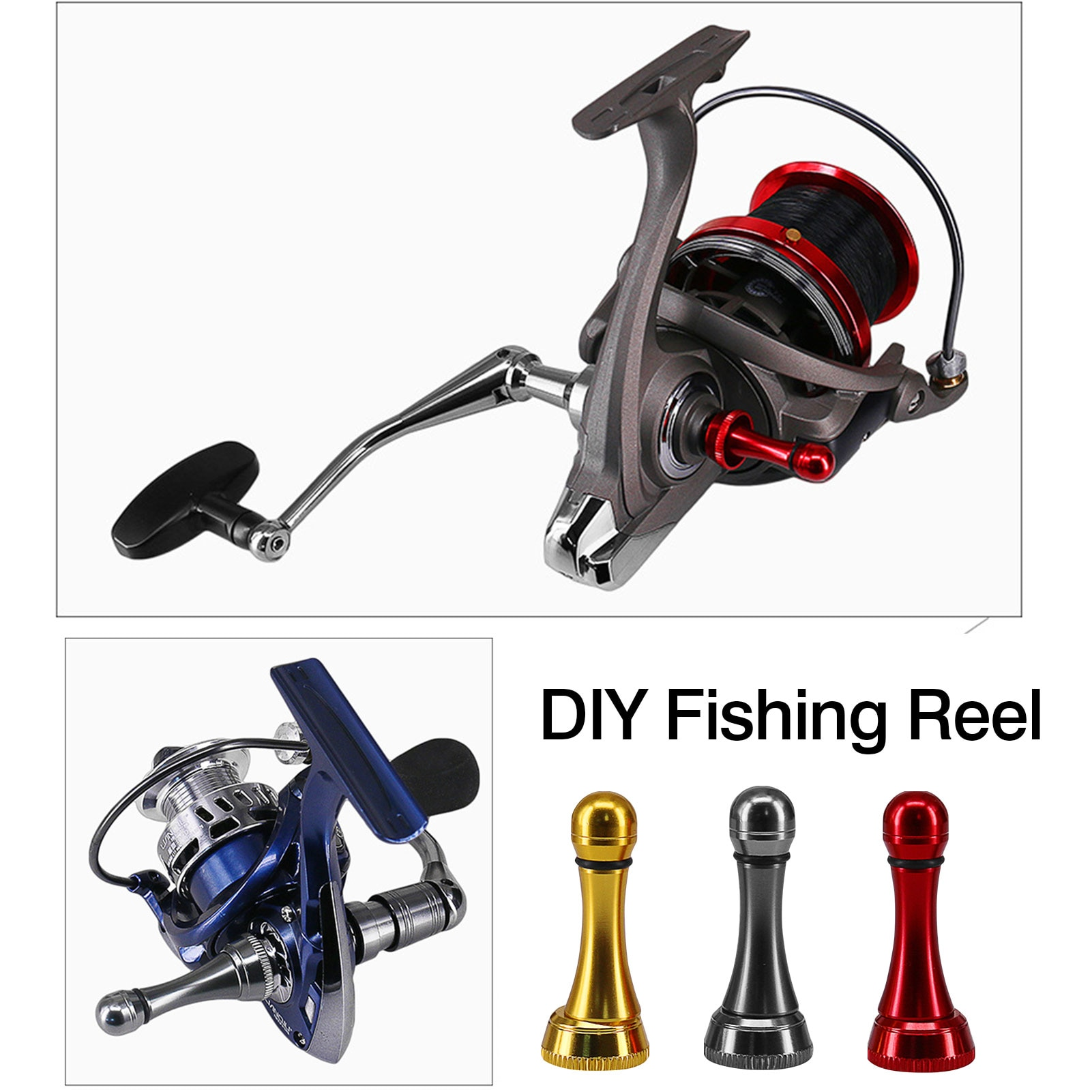 DIY fishing reel anti-collision aluminum alloy balance pole durable handle replacement and repair fishing reel accessories #