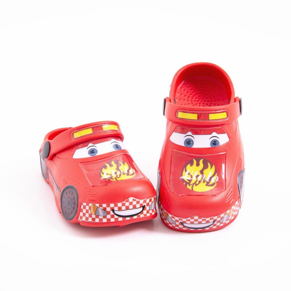 Детские мюли, детские сандалии-Кроксы для маленьких мальчиков и девочек, детские автомобильные гоночные сандалии с машинками, тапки, обувь ...