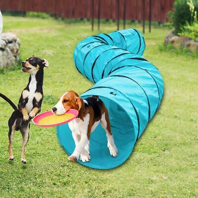 18\' Agility Training Tunnel Pet Dog Play Outdoor Obedience Exercise Equipment