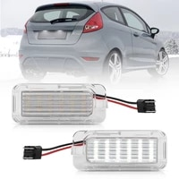 2pcs led license number plate lights for ford focus ecosport fiesta focus galaxy c max kuga mondeo transit tourneo xf xj