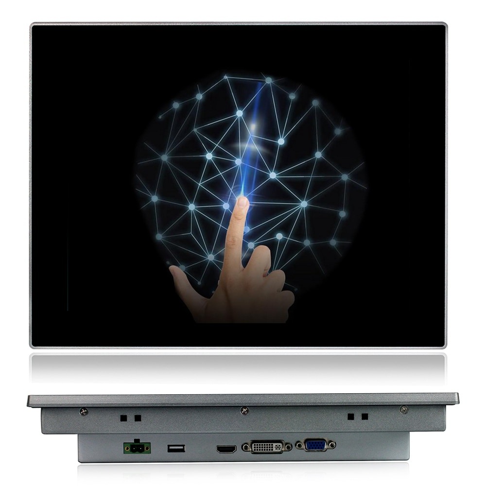12 inch Industrial monitor Multi-Touch PCAP touch Screen VGA HD-MI Touch USB interface Tablet display Embedded installation