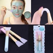 1PC Professional Silicone Face Mask Brush Foundation DIY Mud Mixing Stirring Brush Soft Women Skin F