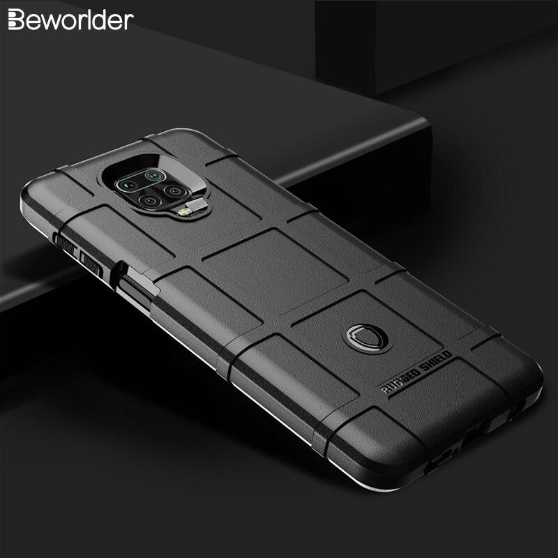 Note9 casos para Xiaomi Redmi Nota 9s armadura militar proteger resistente escudo TPU cubierta para Redni Nota 9 Pro Max funda de silicona