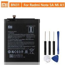 Original Ersatz Batterie Für Xiaomi Mi 5X Mi5X BN31 Xiaomi Redmi Hinweis 5A Xiaomi A1 Redmi Y1 Lite S2 Echte batterie 3080mAh