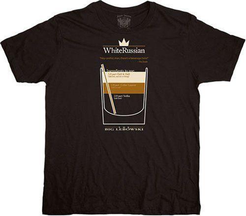 Adult Black Comedy Movie The Big Lebowski White Russian Cocktail T-shirt Tee Summer Men'S fashion Tee,Comfortable t shirt