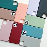 cute pink green phone case for iphone 7 6 6s 8 plus x xr xs 11 12 pro max simple solid soft tpu plain candy color back cover