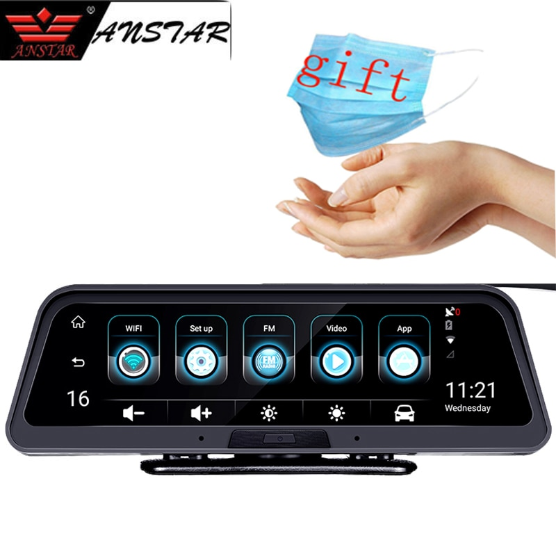 anstar 4g traco cam android dashboard camera do carro wifi gps adas carro dvr 1080
