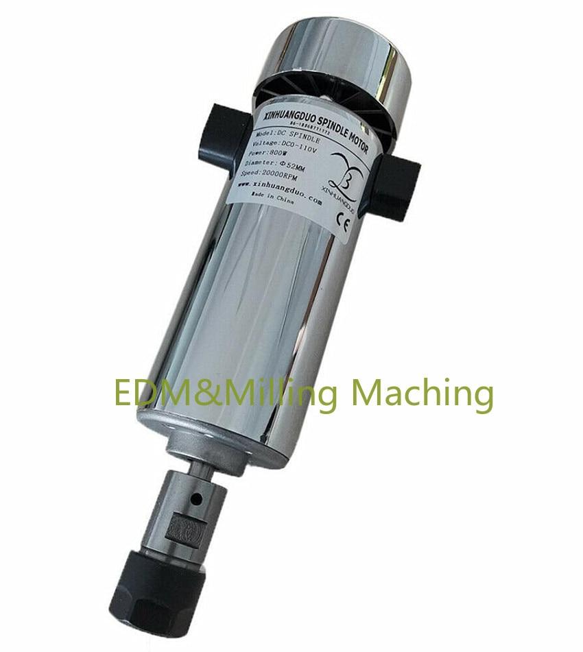 1 قطعة عالية الجودة CNC الهواء المبردة 0.8kw DC110V 20000RPM عالية السرعة المغزل موتور ER16 800W ل Diy دائم جديد
