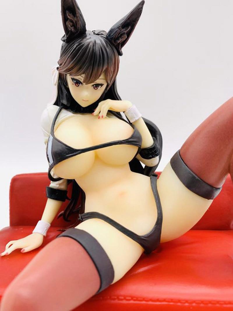 Atago azul mar envío ruta sofá sentado sexy pose juguetes garaje Kit muñeca ornamentos adulto modelo 22cm PVC figura de Anime