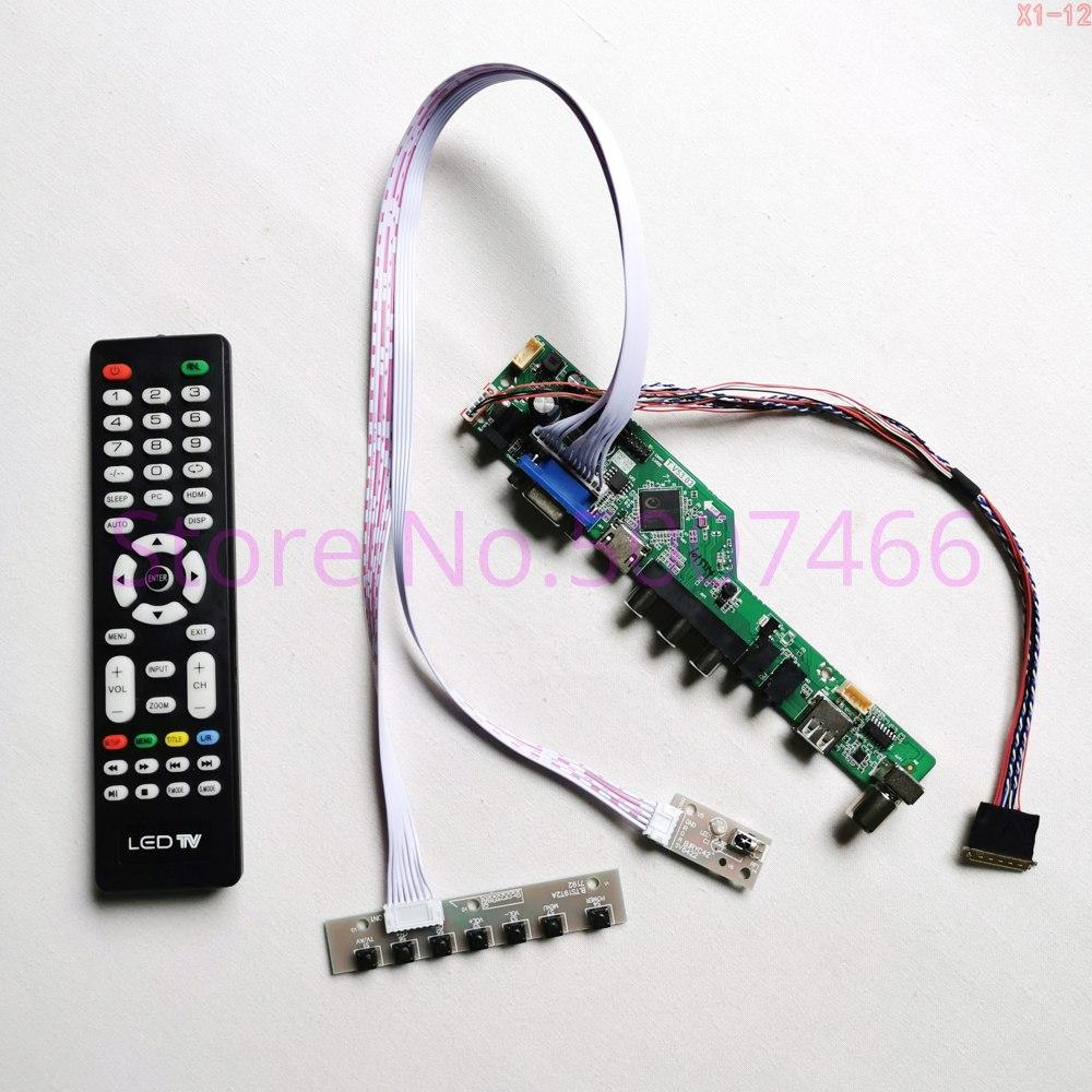 Para N156HGE-L11/L21/LA1/LB1/LG1 1920*1080 pantalla de TV controlador de disco tarjeta WLED LVDS 40Pin portátil panel HDMI USB VGA AV Kit RF